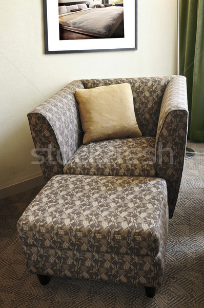 Armchair with ottoman Stock photo © elenaphoto