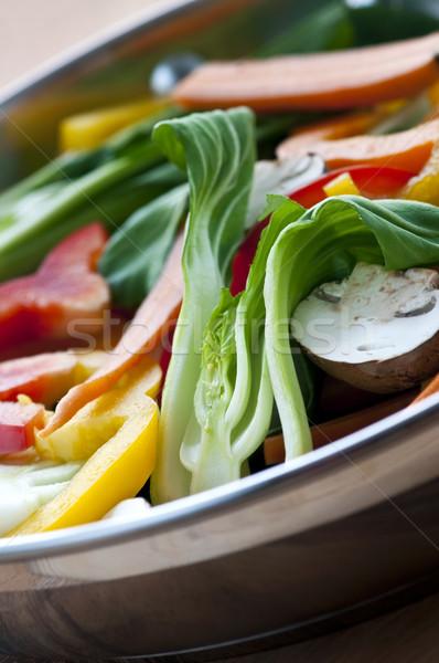 Vegetable stir fry Stock photo © elenaphoto