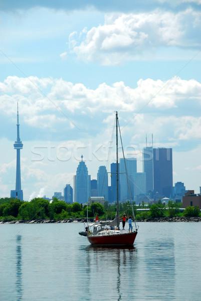 Toronto velero edificio ciudad verano Foto stock © elenaphoto