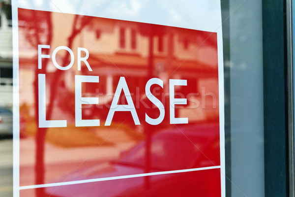 For lease sign Stock photo © elenaphoto