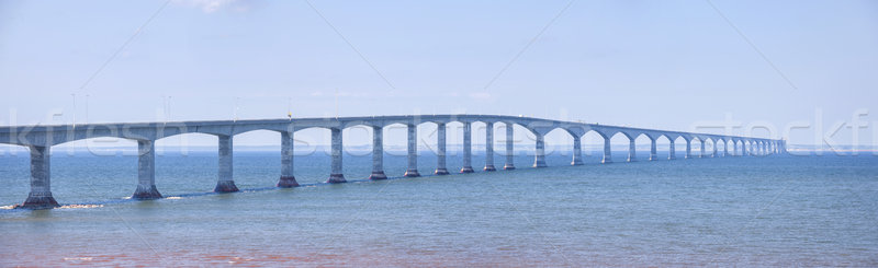 Confederation Bridge panorama Stock photo © elenaphoto