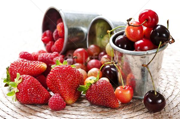 Сток-фото: плодов · Ягоды · лет · металл · продовольствие · здоровья