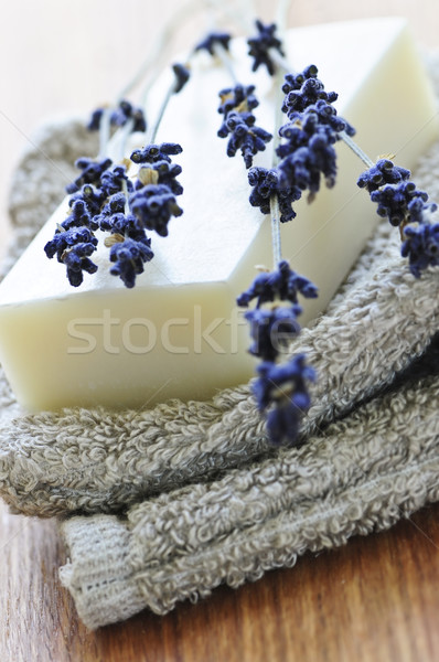 Lavender soap Stock photo © elenaphoto