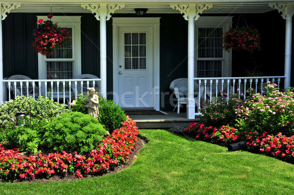 Front yard of a house Stock photo © elenaphoto