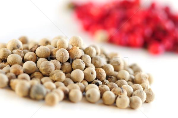 Red and white peppercorns Stock photo © elenaphoto