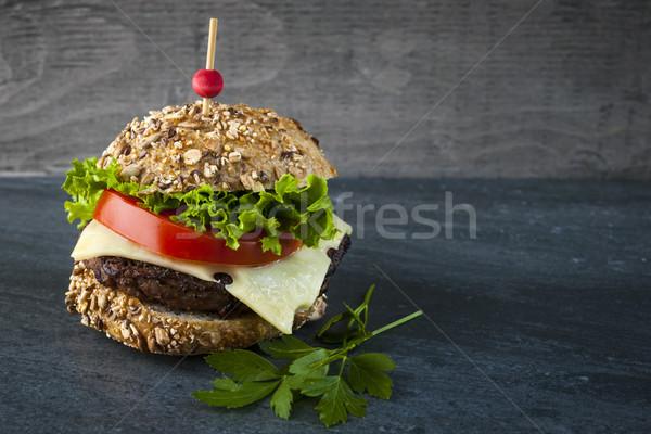 Gourmet hamburger Stock photo © elenaphoto