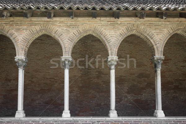 Cloister in Couvent des Jacobins Stock photo © elenaphoto