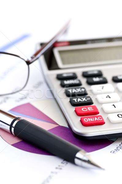 Stok fotoğraf: Vergi · hesap · makinesi · kalem · gözlük · sayılar · gelir