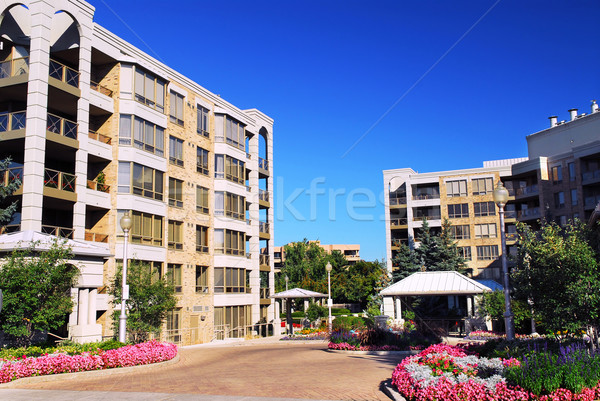 Modern condominium buildings Stock photo © elenaphoto