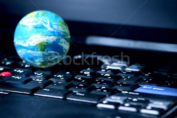 Internet computer business global Stock photo © elenaphoto