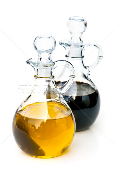 Stock photo: Oil and vinegar