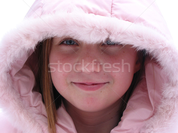 Winter Cutie - portrait of a young girl Stock photo © elenaphoto