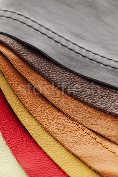 Leather upholstery samples Stock photo © elenaphoto