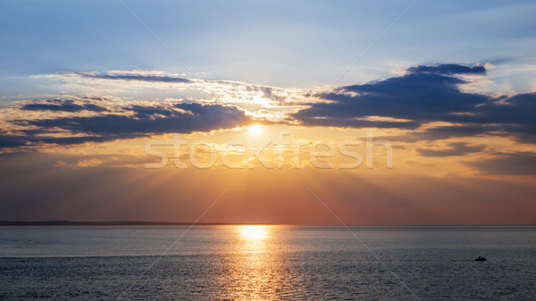 Sunset sky over ocean Stock photo © elenaphoto