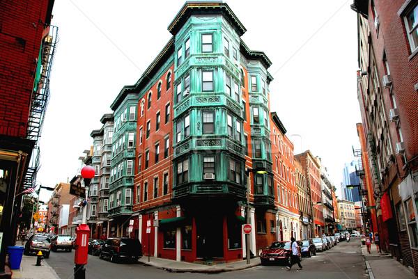 квадратный старые Бостон улице исторический север Сток-фото © elenaphoto