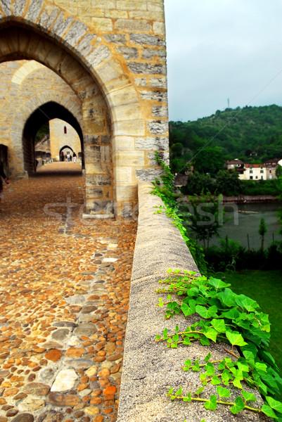 Híd Franciaország középkori délnyugat utazás kő Stock fotó © elenaphoto