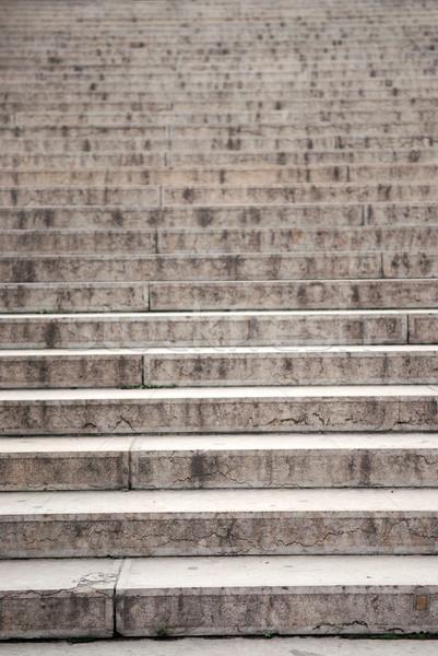 Klatka schodowa długo konkretnych skupić dolny kroki Zdjęcia stock © elenaphoto