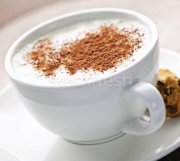 Cappuccino or latte coffee Stock photo © elenaphoto