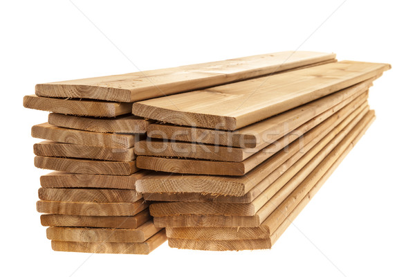 Wooden cedar boards piled Stock photo © elenaphoto