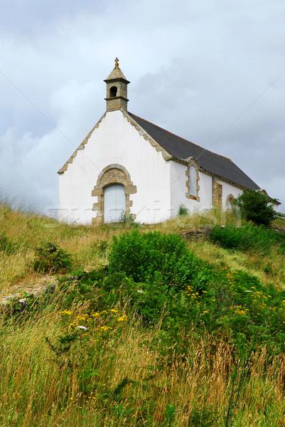 Breton church Stock photo © elenaphoto