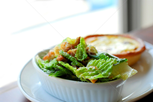 Caesar salad and quiche Stock photo © elenaphoto