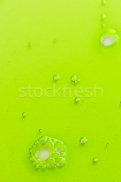 Abstract groene vloeibare gel bubbels verf Stockfoto © elenaphoto
