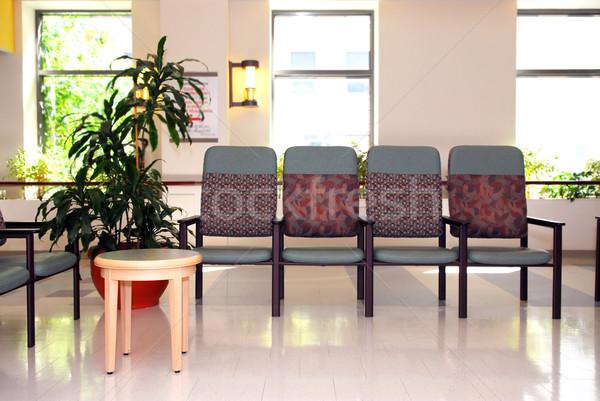 Ospedale sala di attesa clinica vuota sedie medico Foto d'archivio © elenaphoto