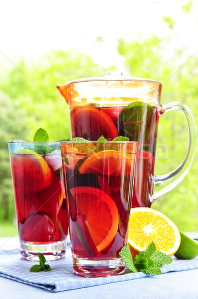 Foto stock: Frutas · gafas · vidrio · hojas
