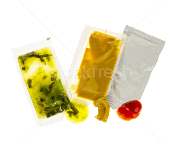 Condiment packets Stock photo © elenaphoto