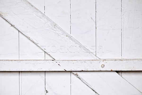 納屋 ドア 背景 古い 木製 描いた ストックフォト © elenaphoto