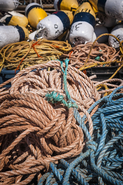Stock photo: Fishing floats and rope