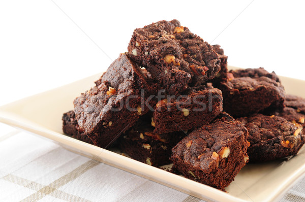 Brownies dessert Stock photo © elenaphoto