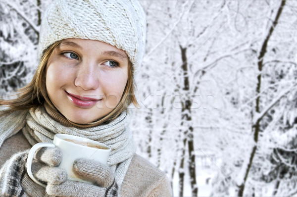 Winter girl Stock photo © elenaphoto