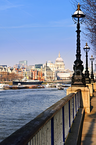 London view from South Bank Stock photo © elenaphoto