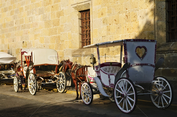 Horse drawn carriages in Guadalajara, Jalisco, Mexico Stock photo © elenaphoto