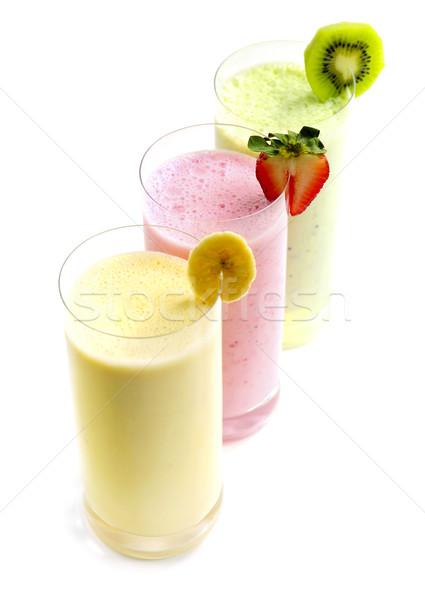 Сток-фото: фрукты · различный · изолированный · белый · стекла · здоровья
