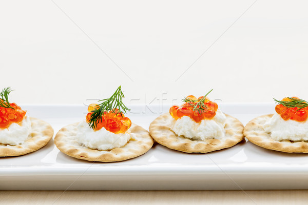 Caviar appetizers Stock photo © elenaphoto