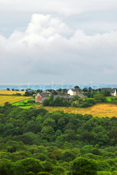 Rolniczy krajobraz sceniczny widoku gospodarstwa domu Zdjęcia stock © elenaphoto