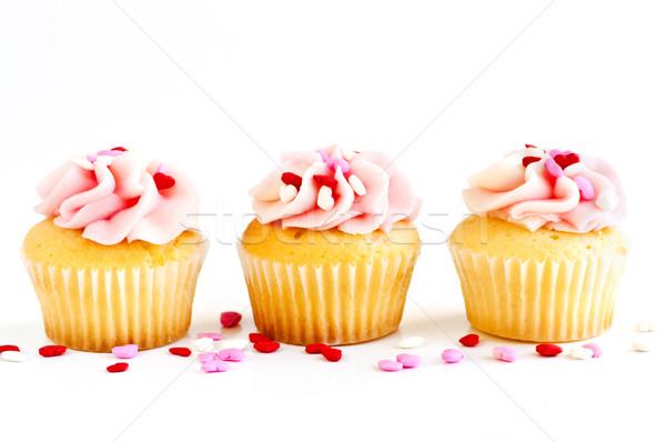 étel buli szív háttér torta csésze Stock fotó © elenaphoto