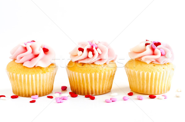 продовольствие участник сердце фон торт Кубок Сток-фото © elenaphoto