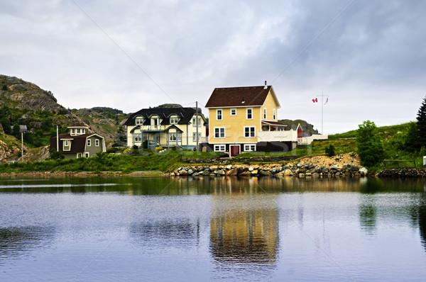 Fishing village in Newfoundland Stock photo © elenaphoto