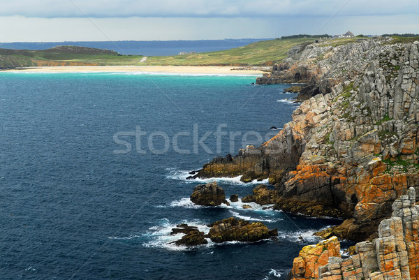 Atlantic coast in Brittany Stock photo © elenaphoto