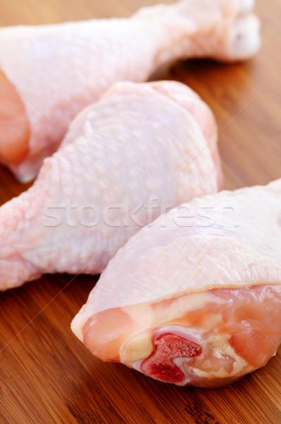 Tavuk ahşap mutfak kuşlar Stok fotoğraf © elenaphoto