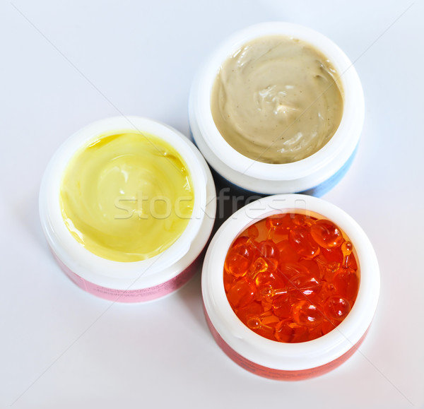 Bőrápolás színes arc szépség üveg bőr Stock fotó © elenaphoto