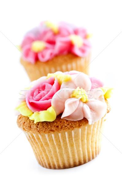 Foto stock: Saboroso · glacê · flores · comida
