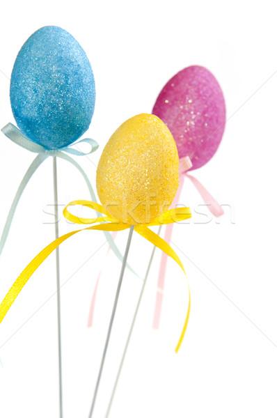 Easter egg oyuncaklar sevimli Paskalya oyuncak yumurta Stok fotoğraf © elenaphoto