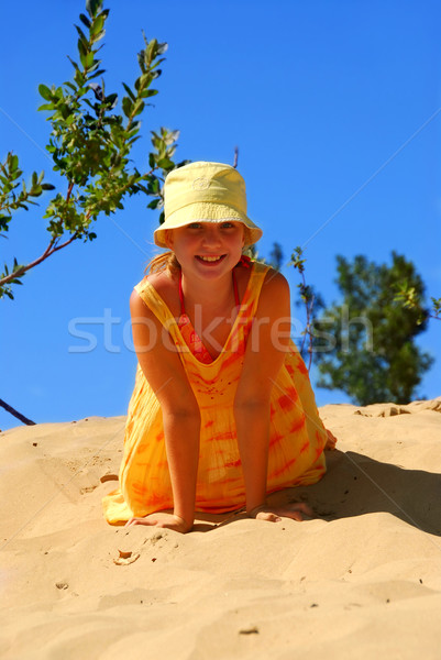 Girl dunes Stock photo © elenaphoto