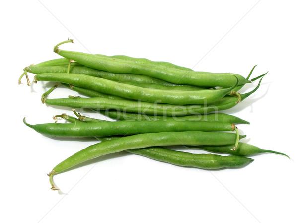 Groene bonen witte geïsoleerd achtergrond groene groenten Stockfoto © elenaphoto