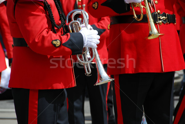 Stock photo: Marching band trumpet