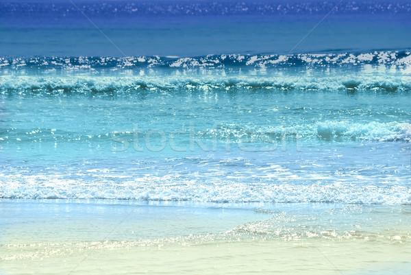 Ocean colori colorato onde frizzante sera Foto d'archivio © elenaphoto